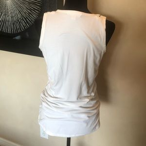 MICHAEL Michael Kors Tops - Michael Kors White Zipper Tank Top